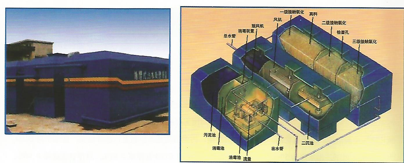 Small and medium-sized domestic sewage treatment plant